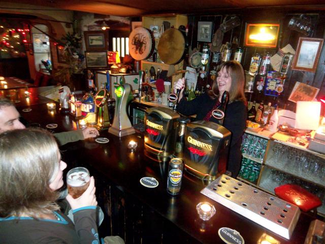 Pulling a Pint at Guerin's Pub in Castleconnell, Co. Limerick