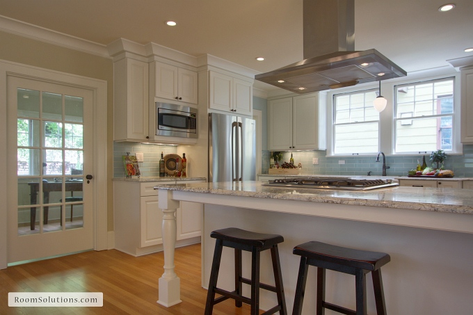 kitchen after remodeling and staging