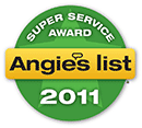 Angie's List 2011 Super Service Award Winner