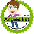 Angie's List 2012 Super Service Award Winner